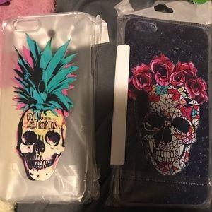 Accessories - 2 skull I phone 6 plus phone cases